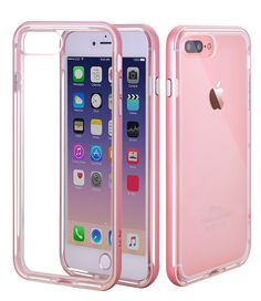 """iPhone 7 Plus Case,iPhone 8 Plus Case,CLONG iPhone 7Plus 8Plus Crystal Clear Slim Protective Cover Flexible Transparent TPU Gel / PC Cases for Apple iPhone 7Plus(2016)/8Plus(2017) 5.5"""" - Rose Gold"""