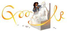 salutes pioneering sculptor Edmonia Lewis to kick off Black History Month Google Doodles, Lélia Gonzalez, Edmonia Lewis, Off Black, Models, Black History Month, American History, Native American, American Art