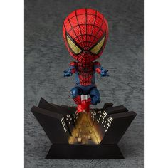 The web-slinging Nendoroid hero is being rereleased! The world-famous Spider-Man joined the Nendoroids as a fully posable figure wearing his newly designed outfit from 'The Amazing Spider-Man' - and due to popular demand he is being rerelased! 3d Figures, Anime Figures, Action Figures, Chuck Norris, Kawaii Chibi, Amazing Spiderman, Vinyl Toys, Designer Toys, Biscuit