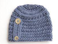 A. Turner Designs: FREE Crochet Button Beanie Hat Pattern