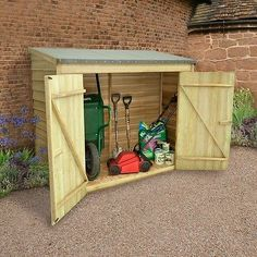 Wooden Outdoor Garden Tool Shed Patio Mower Bike Chairs Storage Cupboard Store