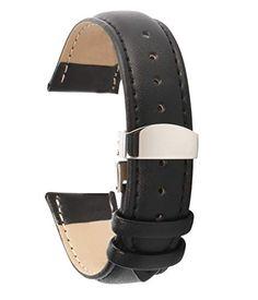 725d3edafc27 Bracelet Homme Bracelets de Montre en Cuir 24mm pour Les Hommes Boucle  déployante
