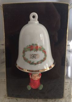 1st In Series Hallmark BellSwinger Ornament 1979 Elf Swinging On Bell Bellringer  | eBay