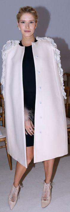 Elena Perminova at the Giambattista Valli Haute Couture Show.