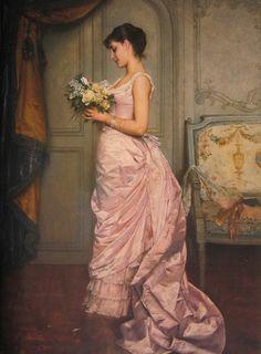 """""""Le Billet"""" by Auguste Toulmouche (1883)"""