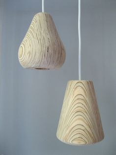 plywood pendant lamps