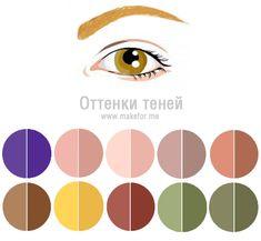Макияж для светло-карих глаз, тени(медовые, янтарные глаза)