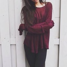 maroon • sweater weather • dark • leggings • longsleeve • autumn • fall • winter • teen • fashion • style • cute • clothes