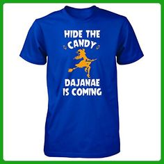 Hide The Candy Dajanae Is Coming Halloween Gift - Unisex Tshirt Royal 4XL - Holiday and seasonal shirts (*Amazon Partner-Link)