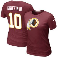 f7ba63c13 Nike Robert Griffin Washington Redskins Ladies Player T-Shirt - Burgundy