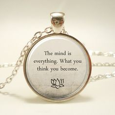 Buddha Quote Necklace, Inspirational Yoga Jewelery, Motivational Quote (1735S1IN) on Etsy, $14.45