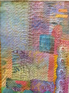 Stitched collage'Summer'. By Debbie Irving