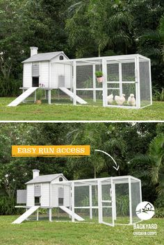 The Penthouse Coop provides you with easy access to your hens with its convenient run door. Find out more about our egg-tastic Penthouse Coop here, http://www.backyardchickencoops.com.au/chook-pens/the-penthouse/ #loveyourchickens #penthousecoop #chickencoops