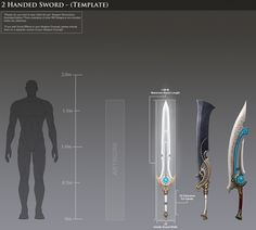Savage Swords and Noble Staves: it's time for a RIFT concept art contest! Dark Warrior, Sci Fi Weapons, Swords, The Hobbit, Concept, Templates, Ganesh, Knives, Blade