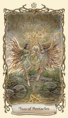 Fantastical Creatures Tarot - Two of Pentacles - Spiritual flights of fancy