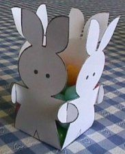 This would be cute out of scrapbook paper!..Bunny Baskets