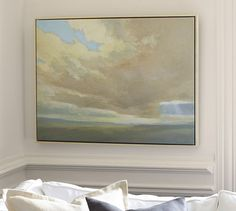 Cloud Study Giclee Canvas | Pottery Barn. similar frame for bedroom art.