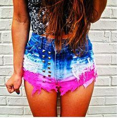 High wasted shorts fashion