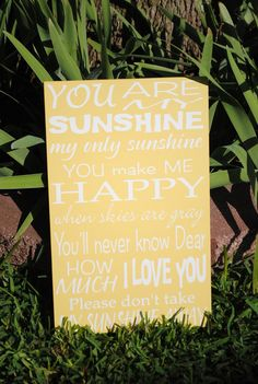 You are my sunshine nursery room decor by asuniqueasyou on Etsy, $25.00
