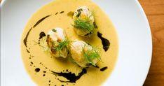 Une recette de crème de patates douces pour réchauffer votre coeur accompagnée de gnudis de ricotta italiens!