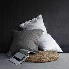 2 PSC/Lot 100% Nature Linen Pillowcase European simple shell button soft washing Linen pillow cover Free Shipping