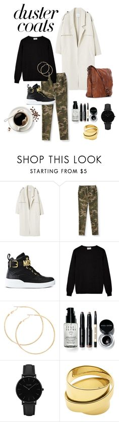 """""""Coffee and Camo"""" by bonadragginger ❤ liked on Polyvore featuring MANGO, Aéropostale, Moschino, Campomaggi, Bobbi Brown Cosmetics, CLUSE and Dyrberg/Kern"""