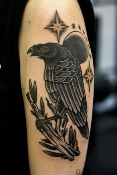 Crow Tattoo Ideas   http://tattooideas22.com/crow-tattoo-ideas/