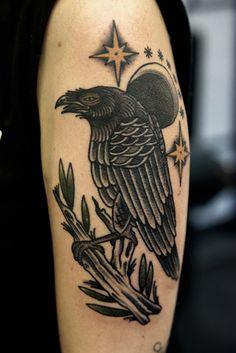 Crow Tattoo Ideas   http://tattooideas22.com/crow-tattoo-ideas/