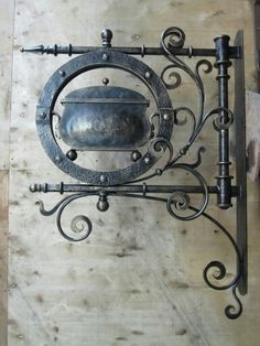 Ornate iron frame art.