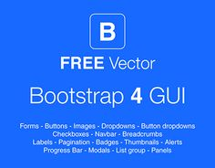 "Check out new work on my @Behance portfolio: ""Bootstrap 4 GUI - FREE Vector File"" http://be.net/gallery/47991997/Bootstrap-4-GUI-FREE-Vector-File"