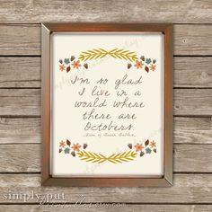 Thanksgiving Fall sign Glad I live in a by SimplyPutPrintables, $8.50