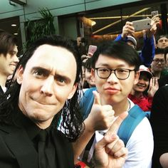 "Tom Hiddleston as ""Loki"" on the set of ""Thor : Ragnarok"" in Brisbane, Australia, August 2016"