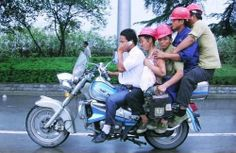human transport: population on motorcycle