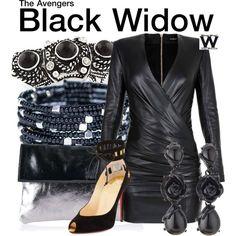Inspired by Scarlett Johansson as Black Widow in the Marvel film franchise.