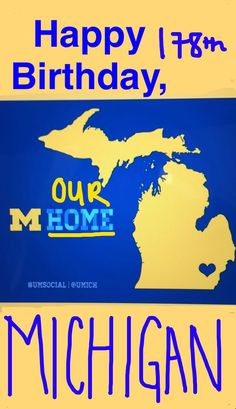Happy Birthday to our hoMe state!