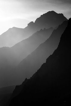 landscape black and white photography mountain nature B&w Wallpaper, Landscape Photography, Nature Photography, Mountain Photography, Black N White Images, Black And White Landscape, Belle Photo, Black And White Photography, Scenery