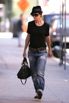 I missed Katie's short hair and baggy jeans.