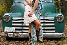 country boots and truck