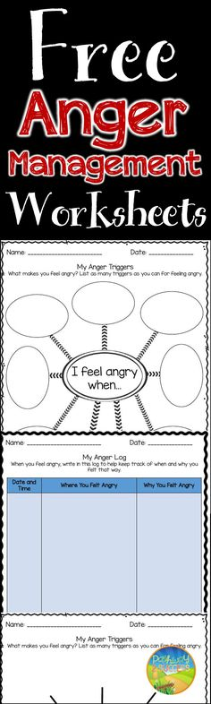 Anger Management Worksheets FREE worksheets for anger management skills The post Anger Management Worksheets appeared first on Best Of Daily Sharing. Therapy Worksheets, Free Worksheets, Therapy Activities, Work Activities, Activity Ideas, Printable Worksheets, Printables, Teaching Social Skills, Social Emotional Learning