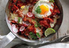 Food: 22 Super Delish Breakfast Recipes  (via Chilaquiles with Fried Eggs: Recipe: bonappetit.com)