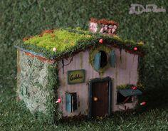 Casa de bosque en miniatura para duendes, hadas, brujas, elfos, muñecos realpuki y mundo fantasía, una verdadera preciosidad que embellecerá cualquier rincón de nuestro hogar o negocio.