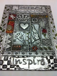 Pewter and Paint Journal Cover
