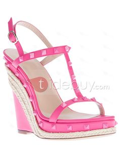 pink+wedge+heel | Lovely Pink Color Wedge Heels Women Pumps : Tidebuy.com