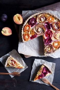 Stone Fruit Almond Tart   Free of gluten and refined sugar