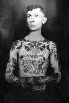 Willy H. Tandy Tattooed By Sailor Jack Wills Photograph  - Willy H. Tandy Tattooed By Sailor Jack Wills Fine Art Print