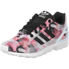 Die Zx Flux K W Sneaker von Adidas sind mit ihrem pinken Blütenmuster ein absoluter Blickfang und richtig stylisch!