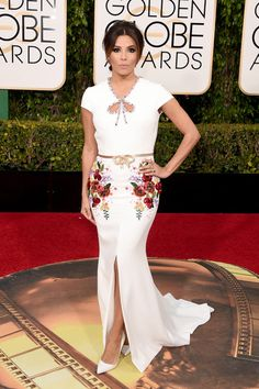 Eva Longoria attends the 73rd Annual Golden Globe Awards held at the Beverly Hilton Hotel on January 10, 2016 in Beverly Hills, California.