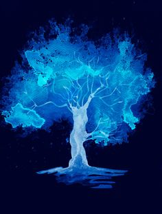 Downloadable images art tree print Electric by PurplePebbleStudios