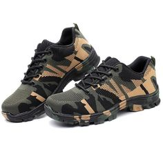 Mens Steel Toe Work Shoes Lace-up Slip-resistant Camouflage Athletic – roarwild Steel Toe Work Shoes, Friend Crafts, Mens Shoes Boots, Camouflage, Bag Accessories, Running Shoes, Athletic Shoes, Fashion Shoes, Lace Up