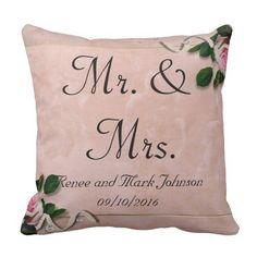 Personalised Mr. And Mrs Cushions